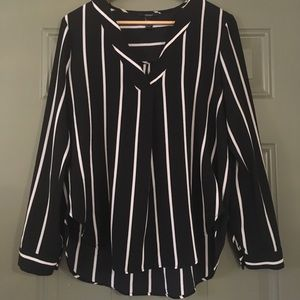 Striped Blouse Size Large